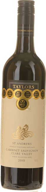 TAYLORS WINES St. Andrews Cabernet Sauvignon, Clare Valley 2010