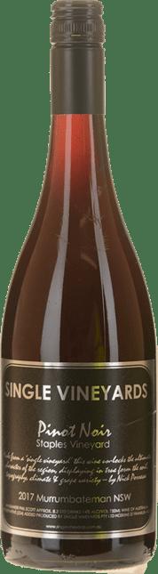 SINGLE VINEYARDS Staples Vineyards Pinot Noir, Murrumbateman 2017