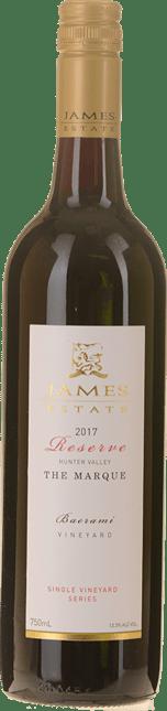JAMES ESTATE The Marque Baerami Vineyard Reserve Cabernet Merlot Cabernet Franc, Hunter Valley 2017