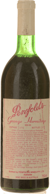 PENFOLDS Bin 95 Grange Shiraz, South Australia 1976