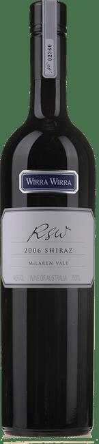 Excellent WIRRA RSW Shiraz McLaren Vale 2006