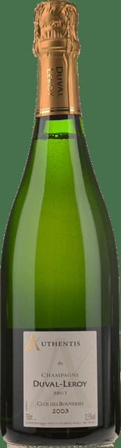 DUVAL-LEROY  Authentis Clos des Bouveries Brut, Champagne 2003
