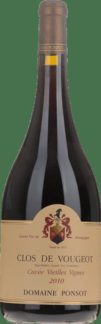 DOMAINE PONSOT Cuvee Vieilles Vignes, Clos de Vougeot 2010