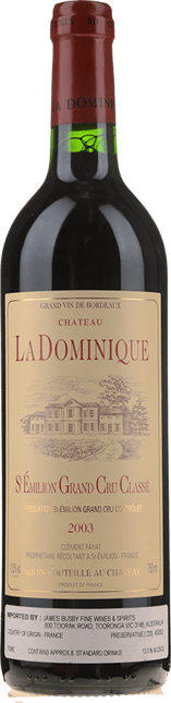 CHATEAU LA DOMINIQUE Grand cru classe, St-Emilion 2003