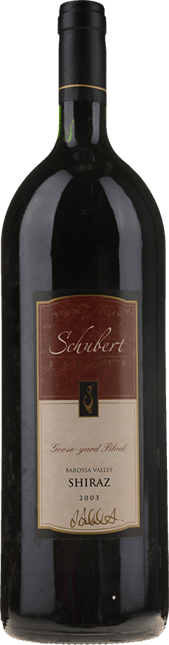 SCHUBERT Goose-yard Block Shiraz, Barossa Valley 2003