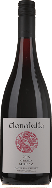 CLONAKILLA O'Riada Shiraz, Canberra District 2016