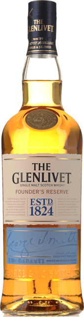 GLENLIVET Founder's Reserve Single Malt Scotch Whisky 40% ABV, Scotland NV