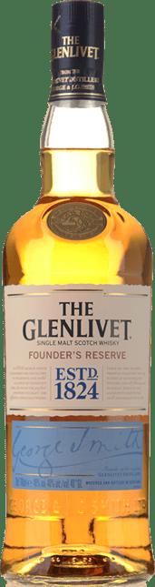 GLENLIVET Founder's Reserve Single Malt Scotch Whisky 40% ABV, Scotland NV