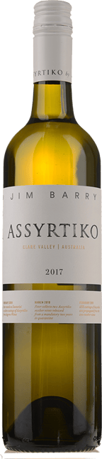 JIM BARRY WINES Assyrtiko, Clare Valley 2017