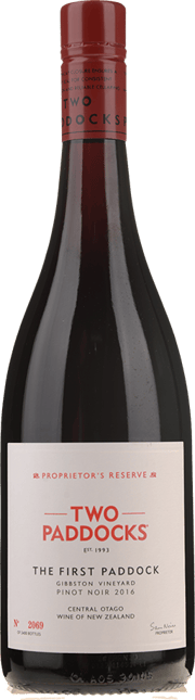 TWO PADDOCKS Proprietor's Reserve First Paddock Pinot Noir, Central Otago 2016