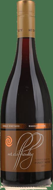 MT DIFFICULTY Single Vineyard Mansons Farm Pinot Noir, Central Otago 2015