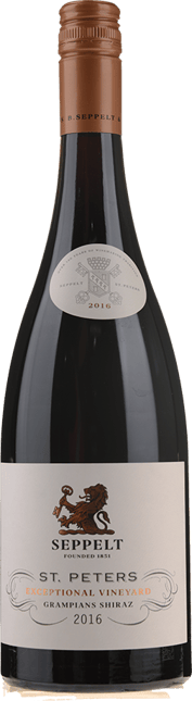 SEPPELT St Peters Great Western Vineyards Shiraz, Grampians 2016