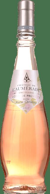 CHATEAU DE L'AUMERADE Cuvee Marie Christine Rose Cotes de Provence Cru Classe, Provence 2017