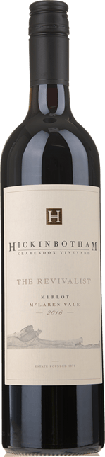 HICKINBOTHAM WINERY The Revivalist Clarendon Vineyard Merlot, McLaren Vale 2016