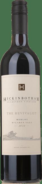 HICKINBOTHAM WINERY The Revivalist Clarendon Vineyard Merlot, McLaren Vale 2016