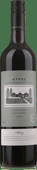 WYNNS COONAWARRA ESTATE V & A  Lane Shiraz, Coonawarra 2016