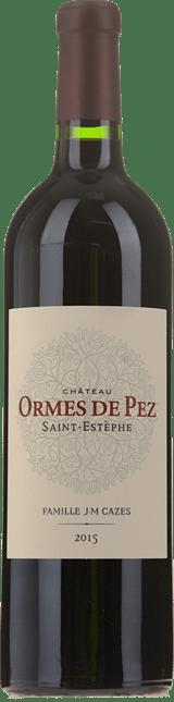 CHATEAU LES-ORMES-DE-PEZ Cru bourgeois exceptionnel, St-Estephe 2015