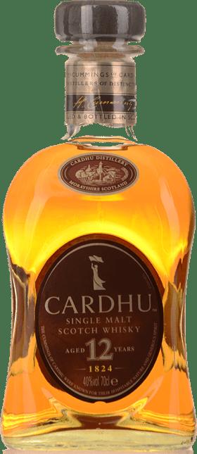 CARDHU 12 Year Old Single Malt 40% ABV, Speyside NV