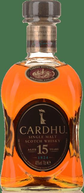 CARDHU 15 Year Old Whisky 40% ABV, Speyside NV