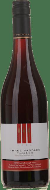 NGA WAKA Three Paddles Pinot Noir, Martinborough 2016
