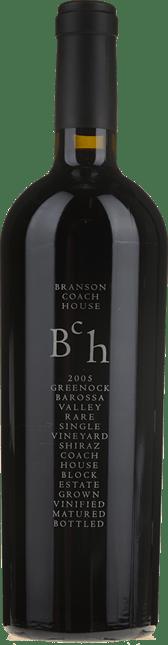 BRANSON COACH HOUSE Greenock Block Single Vineyard Shiraz, Barossa Valley 2005