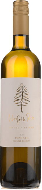 NORFOLK RISE VINEYARD Pinot Gris, Mt Benson 2017