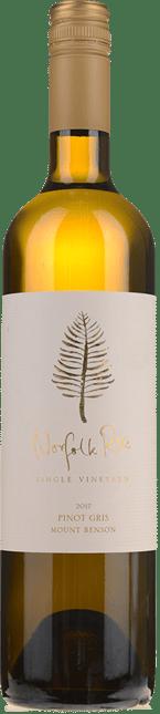 NORFOLK RISE VINEYARD Pinot Gris, Mt Benson 2017