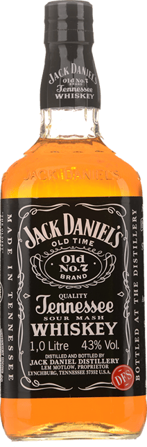 JACK DANIEL'S Old No.7 Tennessee Sour Mash Whiskey 43% ABV, Tennessee NV