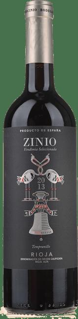 BODEGAS PATROCINIO Zinio Vendimia Seleccionada Tempranillo, La Rioja 2013