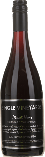 SINGLE VINEYARDS Cottam & Yates Vineyard Pinot Noir, Tumbarumba 2017
