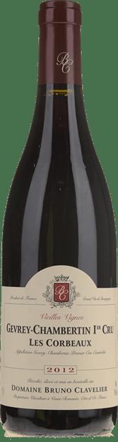 DOMAINE BRUNO CLAVELIER Les Corbeaux Vieilles Vignes 1er cru, Gevrey-Chambertin 2012
