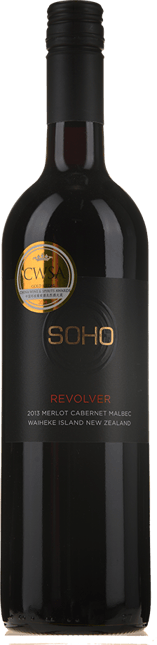 SOHO WINE CO Revolver Cabernet Malbec Merlot, Waiheke Island 2013