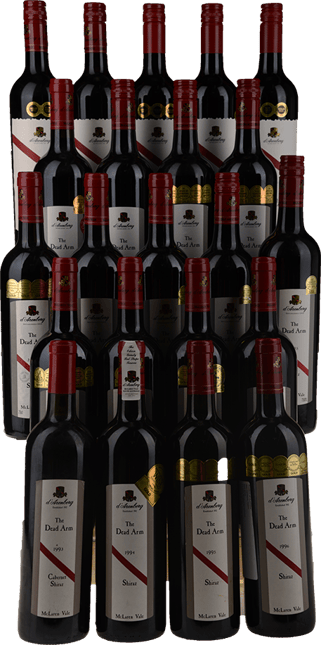 D'ARENBERG WINES The Dead Arm Shiraz 22 Bottle Vertical Set 1993-2014 Shiraz, McLaren Vale MV
