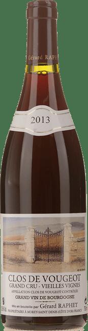 GERARD RAPHET Vieilles Vignes, Clos de Vougeot 2013