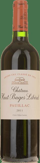CHATEAU HAUT-BAGES-LIBERAL 5me cru classe, Pauillac 2011