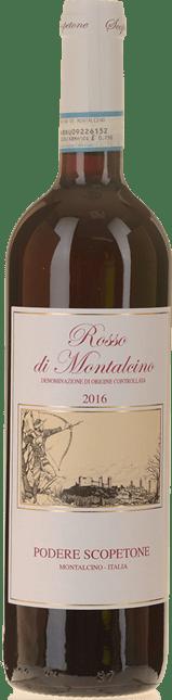 PODERE SCOPETONE , Rosso di Montalcino DOC 2016