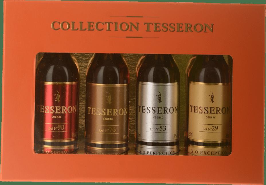 TESSERON COGNAC XO COLLECTION 4-pack - 5CL BOTTLES OF 90, 76, 53, 29 , Cognac NV
