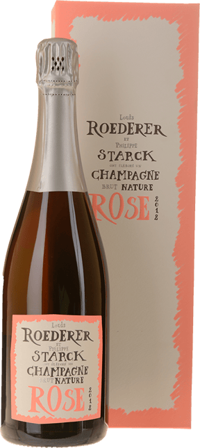 LOUIS ROEDERER Brut Nature Rose by Philippe Starck, Champagne 2012