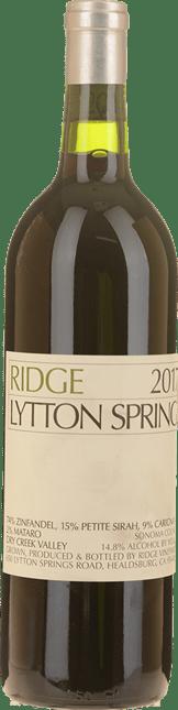 RIDGE VINEYARDS Lytton Springs Zinfandel Petite Syrah Carignan, Sonoma 2017