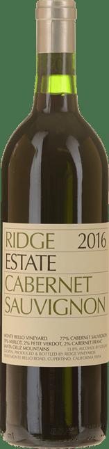 RIDGE VINEYARDS Cabernet Sauvignon, Santa Cruz Mountains 2016