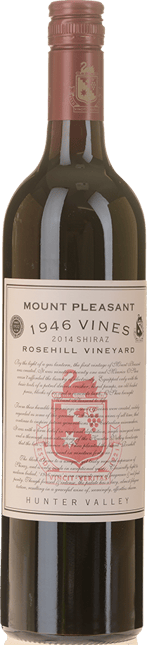 MOUNT PLEASANT Rosehill 1946 Vines Shiraz, Hunter Valley 2014