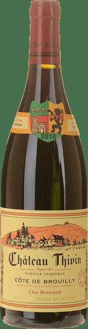 CHATEAU THIVIN Clos Bertrand, Cote-de-Brouilly 2018