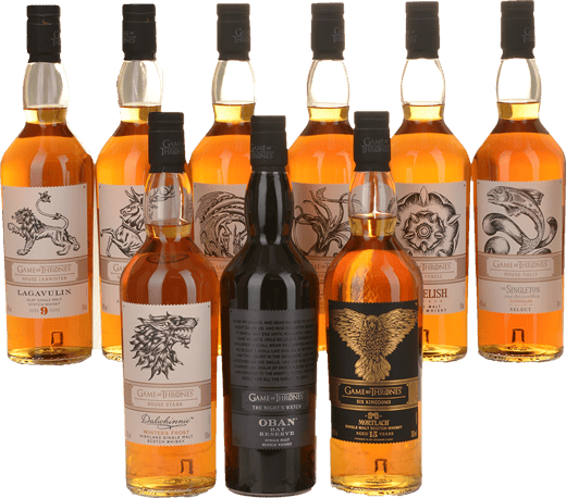 GAME OF THRONES 2020 Release Single Malt Scotch Whisky 9 Bottle Set, Scotland NV