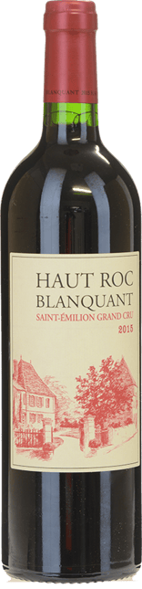CHATEAU BELAIR-MONANGE Haut Roc Blanquant Grand Cru, third wine of Chateau Belair-Monanage , St-Emilion 2015