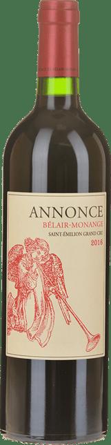 CHATEAU BELAIR-MONANGE Annonce de Belair-Monange, second wine of Belair-Monange Grand Cru , St-Emilion 2016