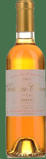 CHATEAU CLIMENS 1er cru classe, Sauternes-Barsac 2001