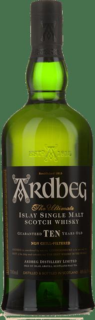 ARDBEG 10 Year Old Scotch Whisky 46% ABV, Scotland NV
