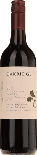 OAKRIDGE ESTATE 864 Winery Block Cabernet Sauvignon, Yarra Valley 2010