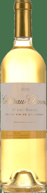CHATEAU CLIMENS 1er cru classe, Sauternes-Barsac 2010