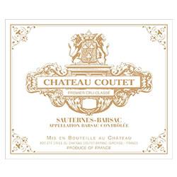 CHATEAU COUTET 1er cru classe, Sauternes-Barsac 2018